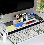 Cyanics iStick organizador de escritorio multifunción, accesorio de cubículo con hub de 3puertos USB, espacio de almacenamiento para los artículos de papelería, color blanco