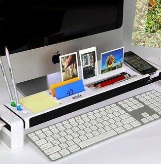 Cyanics iStick multifunzione, Cubicle-Organizer da scrivania con 3 porte USB Hub, spazio per articoli di cancelleria