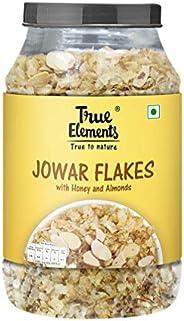 True Elements Jowar Flakes 750g - Wholegrain Millet Flakes, Cereal for Breakfast, Healthier Version of Corn Fl