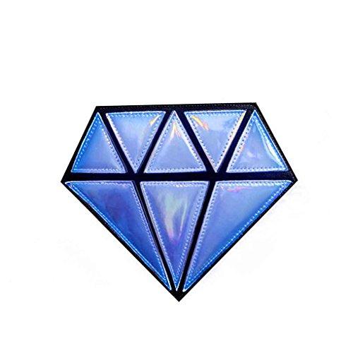Miaomiaogo Sacchetto di spalla del Crossbody della ragazza delle donne del sacchetto di catena dell'unità di elaborazione di figura del diamante 3D rosso