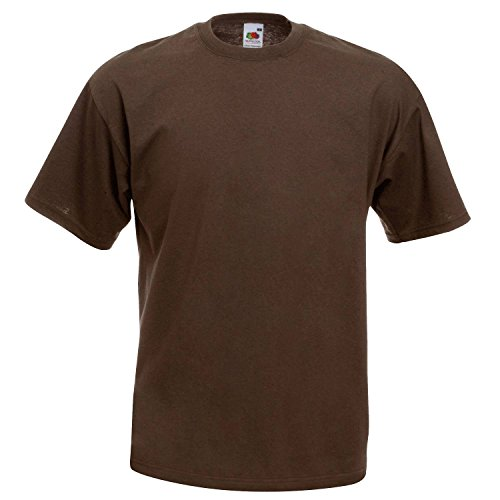 Chocolate Brown T-shirt (Fruit of the Loom T-Shirt (Valueweight), 27 Farben, kleine bis - Chocolate - 2XL)