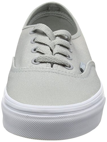 Vans Unisex-Erwachsene Authentic Sneakers Grau (2 Tone Glitter white/high-rise)