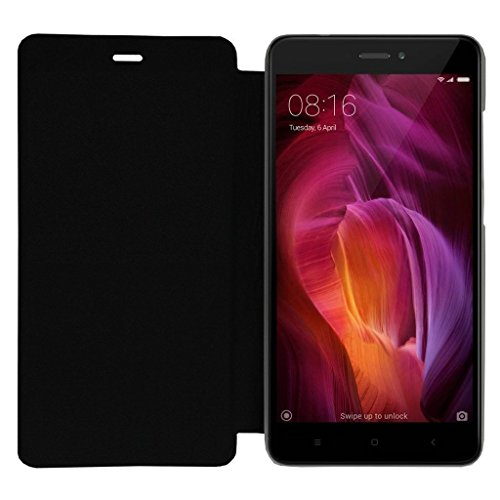 Royal Touch Xiaomi Redmi Note 4 - Black Artificial Leather Flip Cover For Xiaomi Redmi Note 4 , Pu Leather Phone Cover Case F