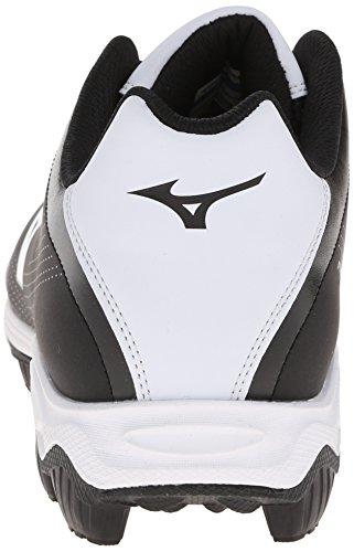 Mizuno Mens 9-Spike Franchise 7 Low Baseball Cleat,Black/White,7 M US Black / White