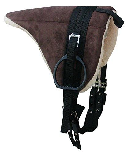 AMKA Shetty Pony Reitkissen Sattel, komplettes SET auch für Holzpferde braun