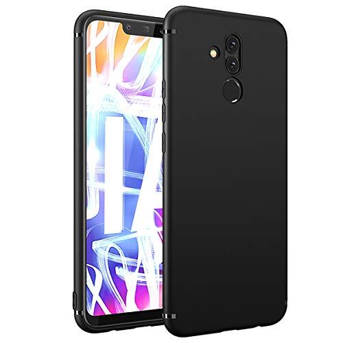 BENNALD Hülle für Huawei Mate 20 Lite Hülle Soft Silikon Schutzhülle Case Cover - Premium TPU Tasche Handyhülle für Huawei Mate 20 Lite (Schwarz,Black)