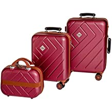 31ebe70503 Enrico Coveri Moving Set Due Trolley + Beauty Case da Viaggio, Valigie  Rigide ABS Viola