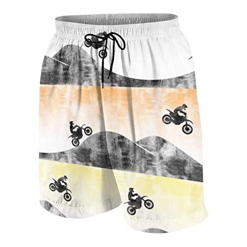 Motocross Dirt Bike Boys Beach Shorts Quick Dry Beach Swim Trunks Kids Swimsuit Beach Shorts,Fashion Printing Shorts S