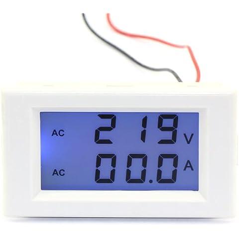 Digital voltmetro AMPEROMETRO DEOK 2-in-1 AC 240 V/100 A Ampere Monitor per controllo tensione Dual Display LCD 100-300V con trasformatore di corrente