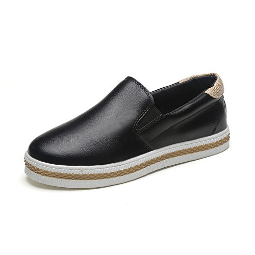 Longra Le donne non di slittamento Sole Casual Shoes Nero