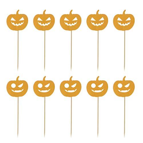 Halloween Kürbis Cupcakes Dekorieren - SUPVOX 20pcs Halloween Kürbiskuchen Topper nimmt