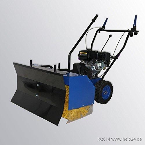 Produktabbildung von Benzin-Kehrmaschine HS-65 inklusive Schneeschild, beste Ausführung in Metallbauweise