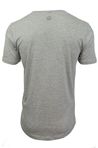 Herren T-Shirt von Smith&Jones `Reredox`kurzämlig Light Grey Marl