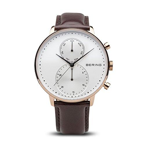 BERING Herren-Armbanduhr Analog Quarz Leder 13242-564
