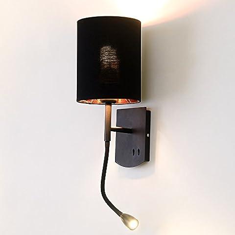Lampe murale de lecture, chambre à coucher, lampe de chevet,