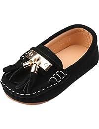 YiJee Niños Respirable Loafers Casual Borlas Zapatos Mocasines