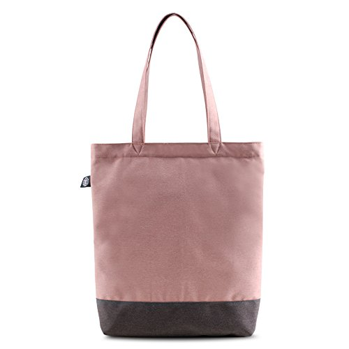 Bwiv borsa a mano di tela da donna con frase inglese borsa a spalla da ragazza Blu con frase inglese Rosa chiaro con frase inglese #2