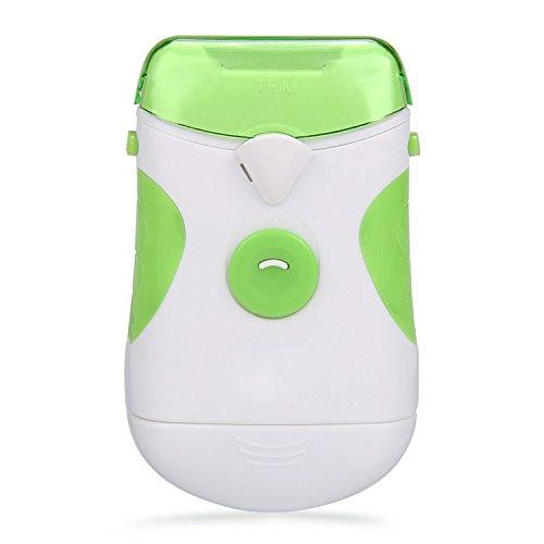 Preisvergleich Produktbild youzee Elektrische Nagel Trimmer–Tragbar batteriebetrieben Nagel Schneiden Clipper Dual Seiten, weiß und grün