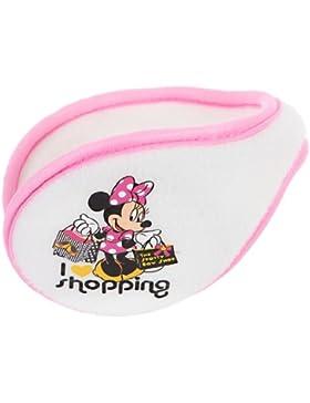 Copri orecchie in pile, flessibile, motivo Minnie 'I love shopping', colore: écru/tu Rosa
