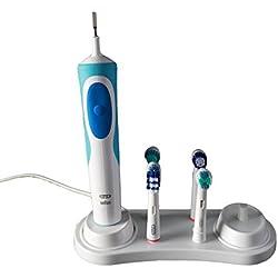 Titular de cepillo de dientes para cepillos de dientes eléctricos Oral-B reposar durante 4 Cabezales de Cargador - Blanco