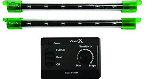 Vision X HIL-M6G 6 Green LED Light Bar - Pack of 2 by Vision X -