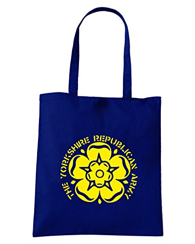 T-Shirtshock - Borsa Shopping WC1107 yorkshire-republican-army-tshirt design Blu Navy