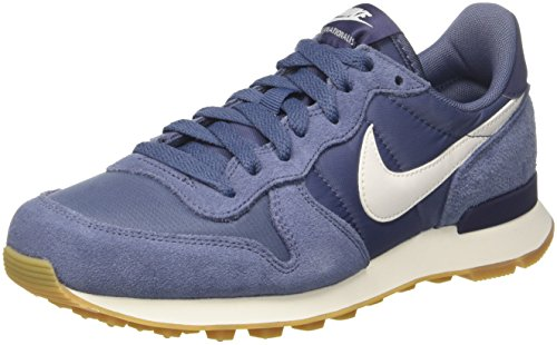 Nike Damen Internationalist Laufschuhe, Mehrfarbig (Diffused Blue/Summit White 001), 38 EU (Nike-internationalist-turnschuhe)