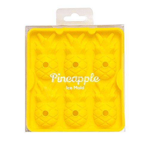 CKB Ltd® Pineapple Ice Cube Tray Ananas Silikon Neuheit Eiswürfelschale Haushaltsdose Silikonbackform Pralinenform Für Parteien, Home Bar, Cocktails