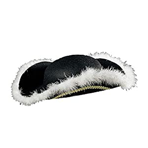 WIDMANN Three-cornered hat with black marabou (gorro/sombrero)