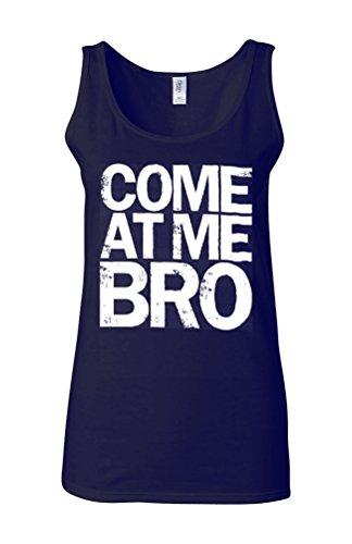 Come At Me Bro Cool Story Novelty White Femme Women Tricot de Corps Tank Top Vest Bleu Foncé