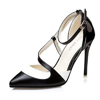 Moda Donna Sandali Sexy donna tacchi tacchi estate pu Casual Stiletto Heel altri nero / blu / Rosa Altri Black
