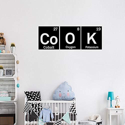 Wandaufkleber Küche Labor-Wanddekorationaufkleber-Schlafzimmerdekoration Des Kobalt-Sauerstoffkaliums Chemischen Symbolwandaufkleber