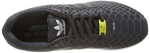 Adidas Zx Flux Techfit, Scarpe da Corsa Uomo Multicolore (Shablk/Shablk/Ftwwht)