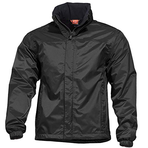 Pentagon Herren Atlantic Regen Jacke Schwarz Größe XL Ripstop-nylon-jacke