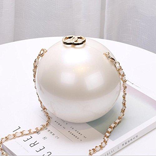 YAN Lady Bags 2018 Neue Mode Nachahmung Perlen Hand Clutch Kleine Partei Paket Kette Umhängetasche Messenger (Style : 2) (Hand Tasche Perlen)