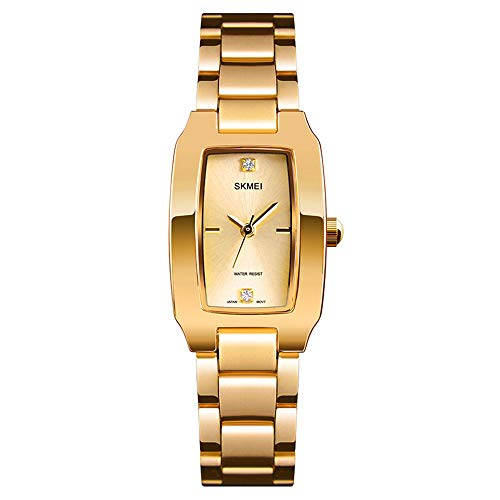XQZ Damenuhr Diamant Zifferblatt Armbanduhr Mädchen Elegante Dame Quarz Uhr Damen Kleid Uhr Wasserdicht