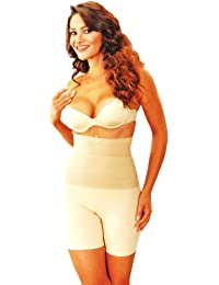 TUMMY CONTROL BOXER GIRDLES WITH BELLY BAND SKIN COLOUR- All Sizes (UK 18/20)