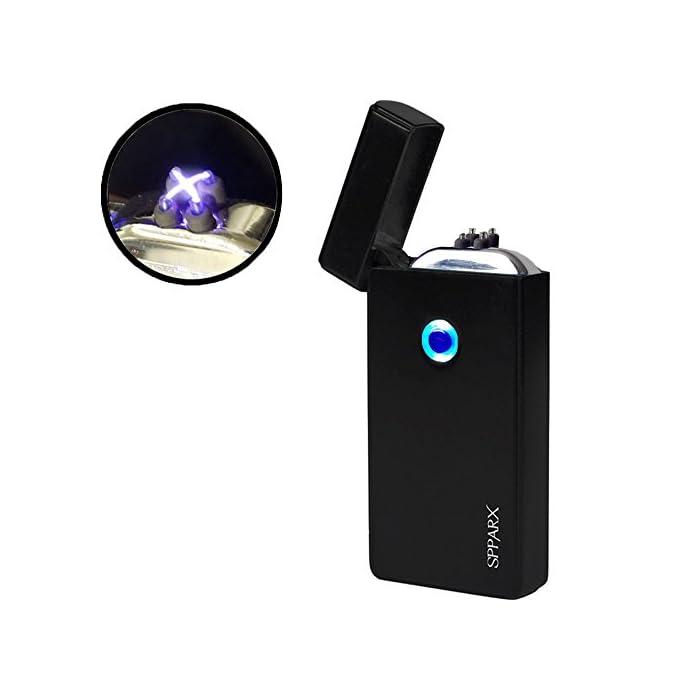SPPARX USB feuerzeug, lichtbogen feuerzeug, Plasma Feuerzeug, Technologie Generation Elektro feuerzeug, Elektronische Feuerzeug, Dual-Bogen-Strahl, USB wiederaufladbare Winddicht, USB-Kabe