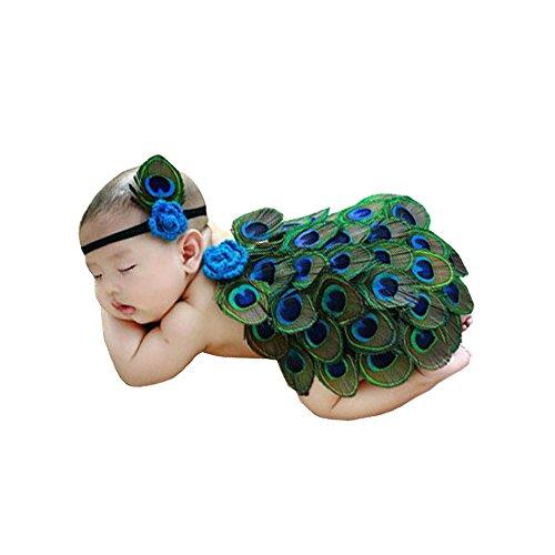 Solaxi Fotografie Prop Baby Kostüm niedlich Pfau Stricken Handarbeit
