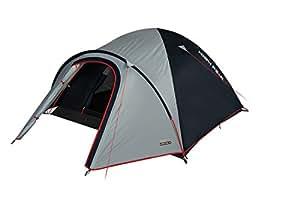 High Peak Neveda 3 tent, Unisex, Zelt Nevada 3, hellgrau/dunkelgrau/Rot