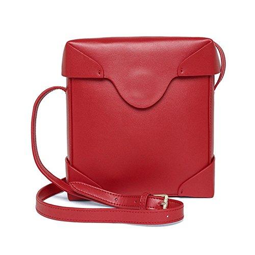 Mefly Handtaschen Aus Leder Sind Diagonal Leder Handtasche Crossbody Schulter gules