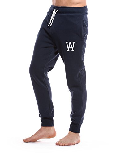 WOLDO Athletic - Pantaloni da uomo per jogging / fitness /tempo libero, slim fit Scott / blau