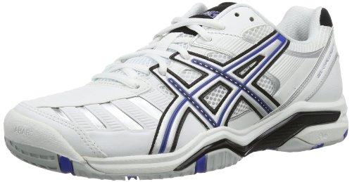Asics GEL-CHALLENGER 9 E303Y Herren Tennisschuhe Weiß (WHITE/BLUE/SILVER 0143)