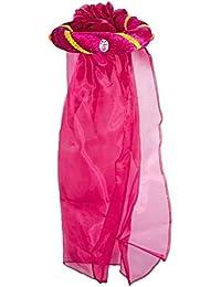 Mittelalter Haarband Rosalin für Mädchen zum Prinzessin oder Burgfräulein Kostüm - Wunderschönes Haarband mit Schleier zu Ritterfest, Mittelalter Mottoparty oder Karneval