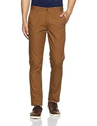 Peter England Men's Super Slim Fit Formal Trousers