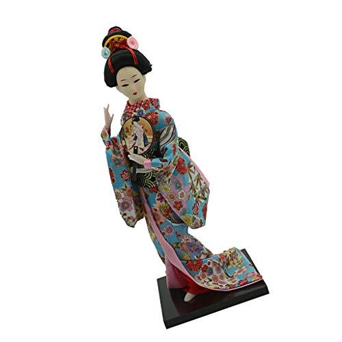 Sharplace 1 Pieza Kimono Japonés Geisha Muñeca Escala 1/6 Vestido Floral Figura Adornos para Hogar