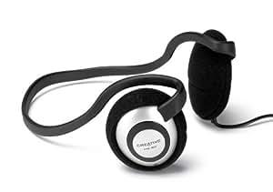 Creative HQ-80 - Headphones ( behind-the-neck ) - black, silver