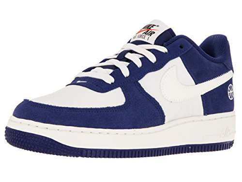 Nike Air Force 1 Gs 314192_Synthetik Unisex-Kinder Low-Top Sneaker Blau (Deep Royal Blue / Sail-Phantom)