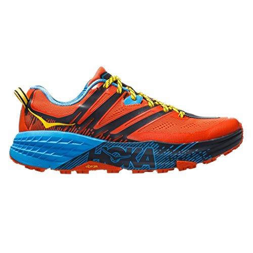 HOKA ONE One Speedgoat 3 Deportivas Hombres Naranja/Azul - 47 1/3 - Running/Trail