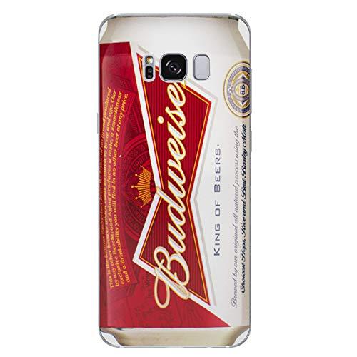 EJC Avenue Bier Telefon Hülle/Case Gel TPU Abdeckung für Samsung Galaxy S8 (G950) mit Display Schutz Budweiser